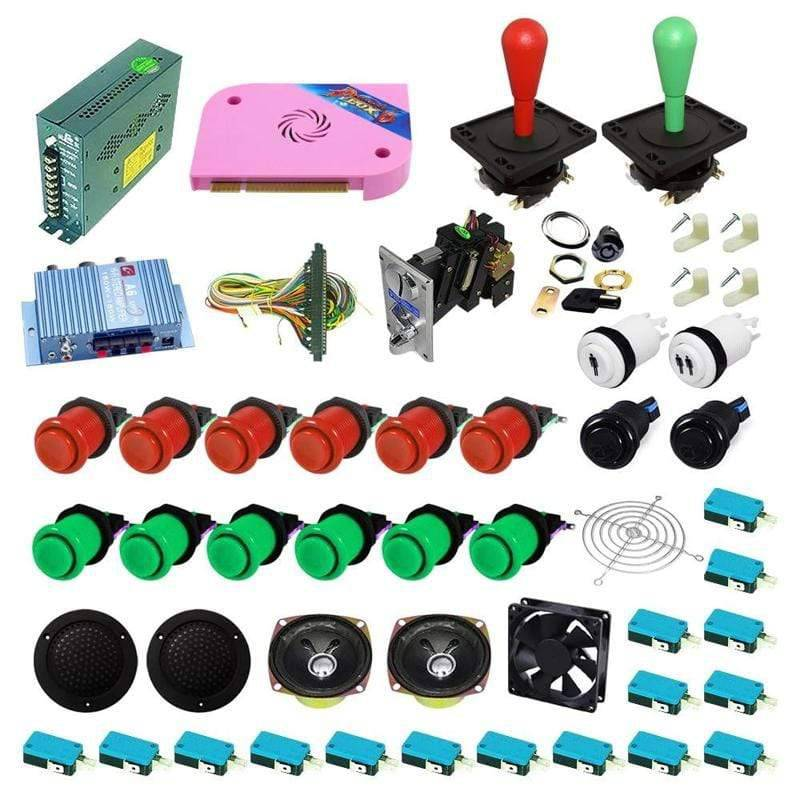Ultimate 1300 in 1 Happ Kit - Red/Green - DIY Arcade USA