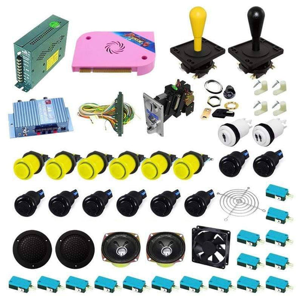 Ultimate 1300 in 1 Happ Kit - Black/Yellow - DIY Arcade USA