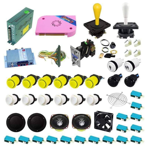 Ultimate 1300 in 1 Happ Kit - Yellow/White - DIY Arcade USA