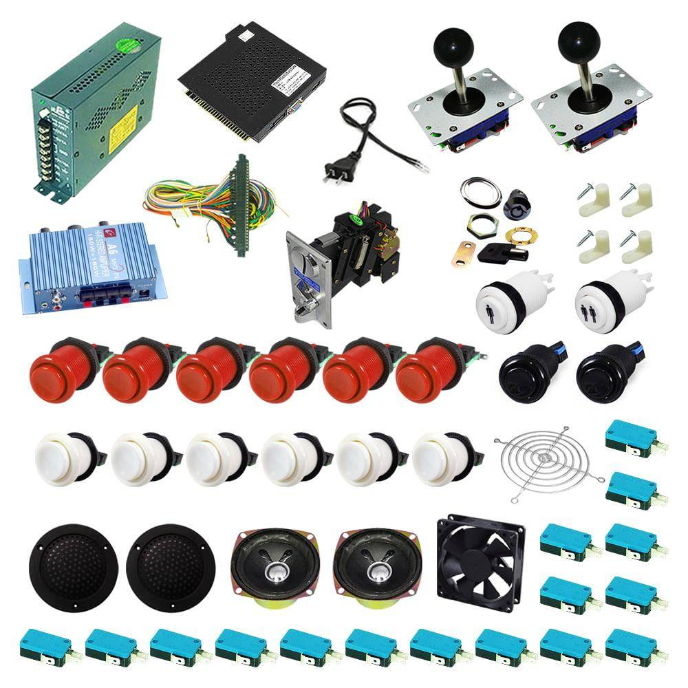 Ultimate 138 in 1 Kit - Red/White - DIY Arcade USA