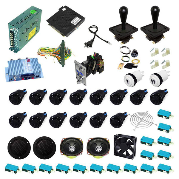 Ultimate 138 in 1 Happ Kit - Black/Black - DIY Arcade USA
