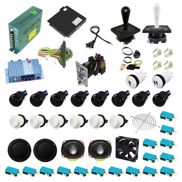 Ultimate 138 in 1 Happ Kit - White/Black - DIY Arcade USA