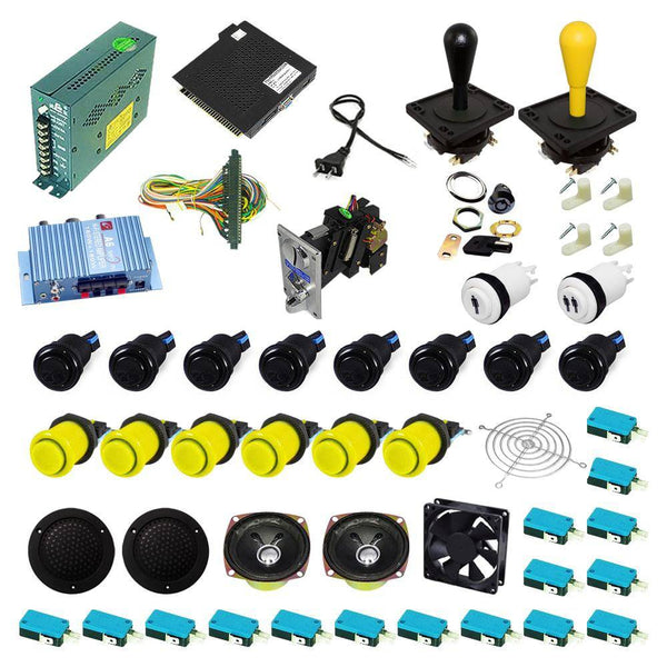 Ultimate 138 in 1 Happ Kit - Black/Yellow - DIY Arcade USA