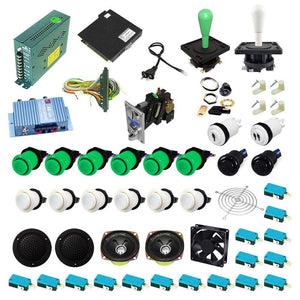 Ultimate 138 in 1 Happ Kit - Green/White - DIY Arcade USA