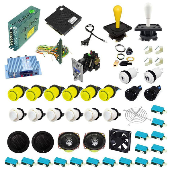 Ultimate 138 in 1 Happ Kit - Yellow/White - DIY Arcade USA