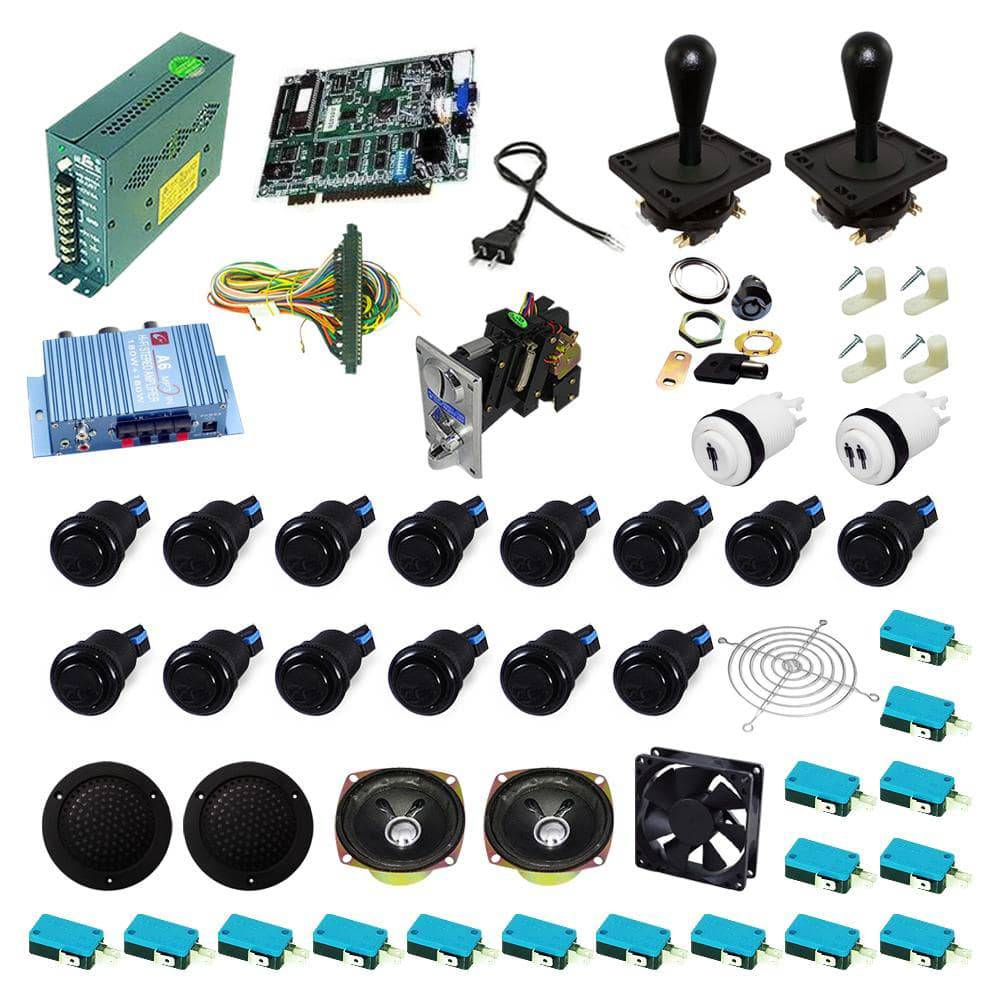Ultimate 19 in 1 Happ Kit - Black/Black - DIY Arcade USA
