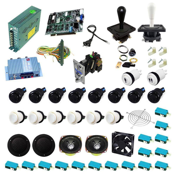 Ultimate 19 in 1 Happ Kit - White/Black - DIY Arcade USA