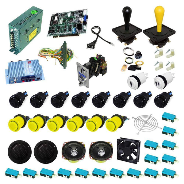 Ultimate 19 in 1 Happ Kit - Black/Yellow - DIY Arcade USA