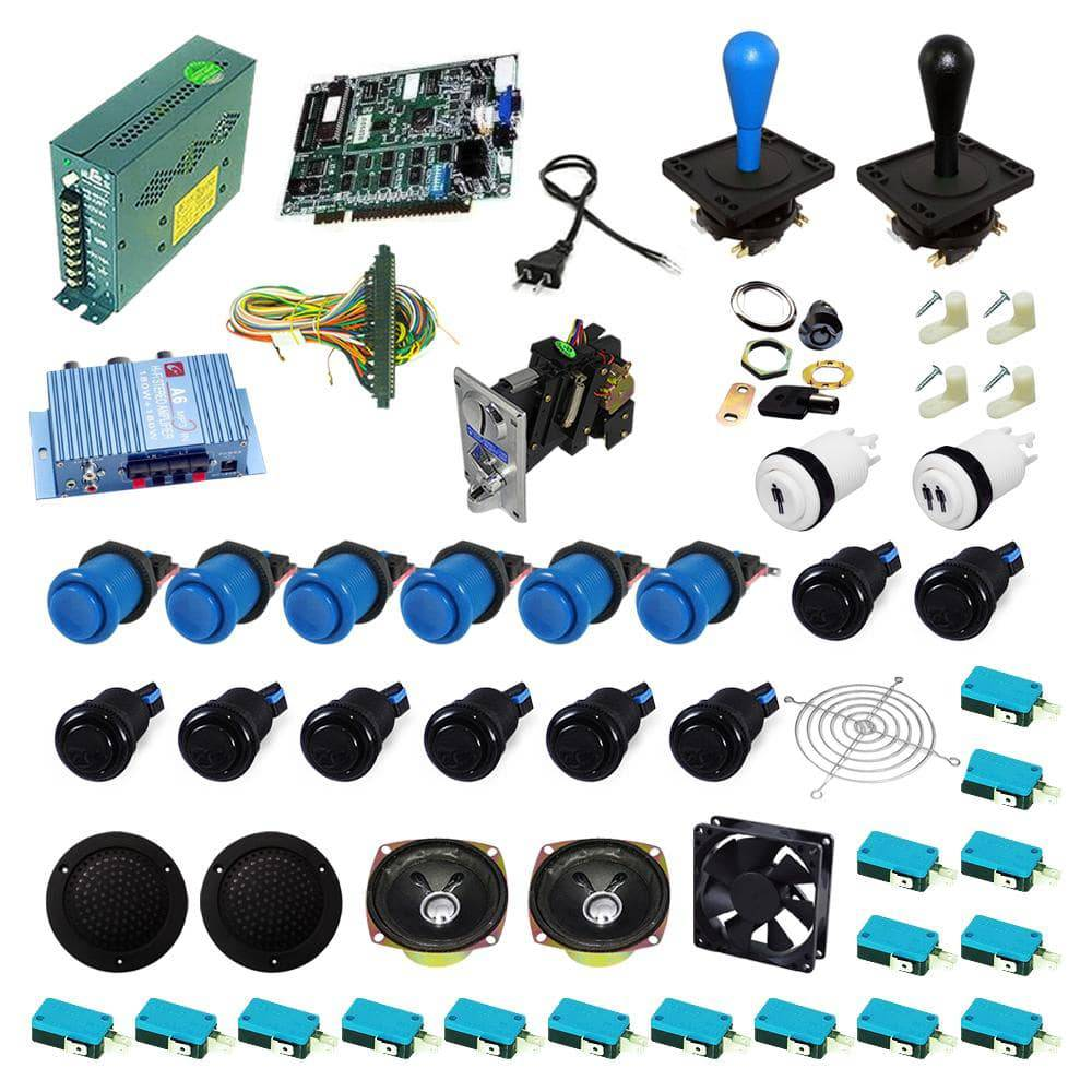 Ultimate 19 in 1 Happ Kit - Blue/Black - DIY Arcade USA