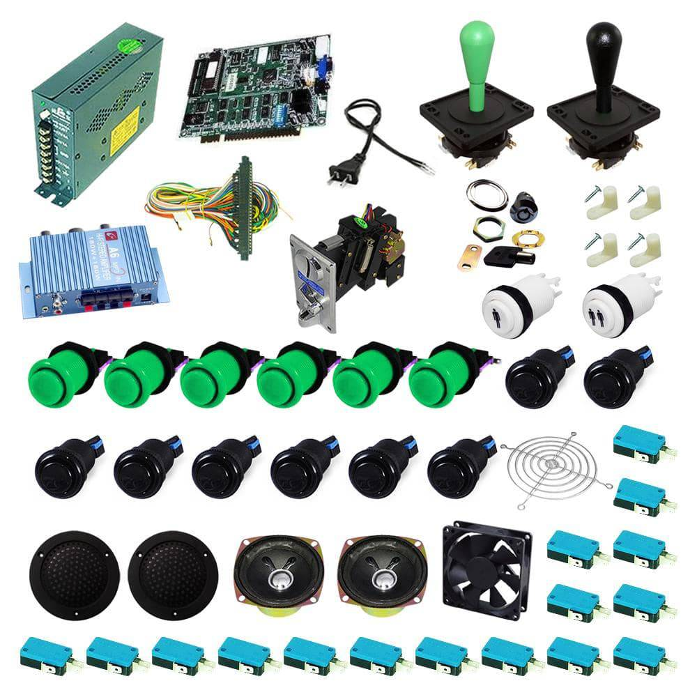 Ultimate 19 in 1 Happ Kit - Green/Black - DIY Arcade USA