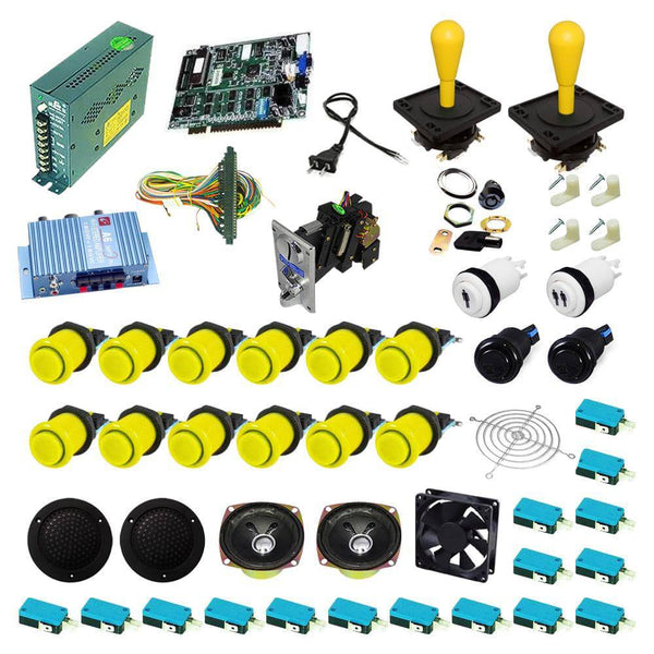 Ultimate 19 in 1 Happ Kit - Yellow/Yellow - DIY Arcade USA