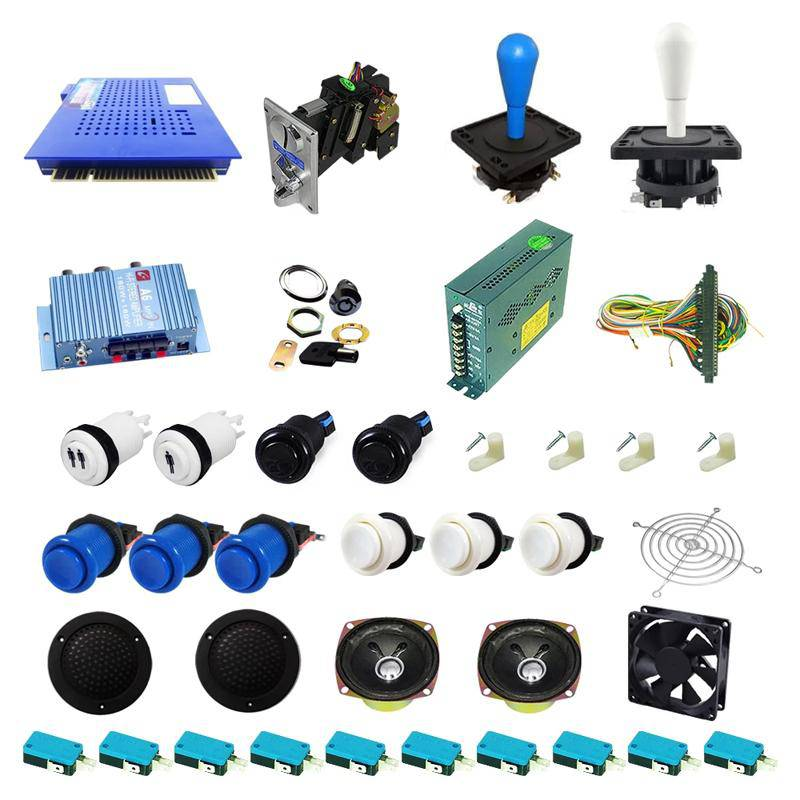 Ultimate 412 in 1 Happ Kit - Blue/White - DIY Arcade USA
