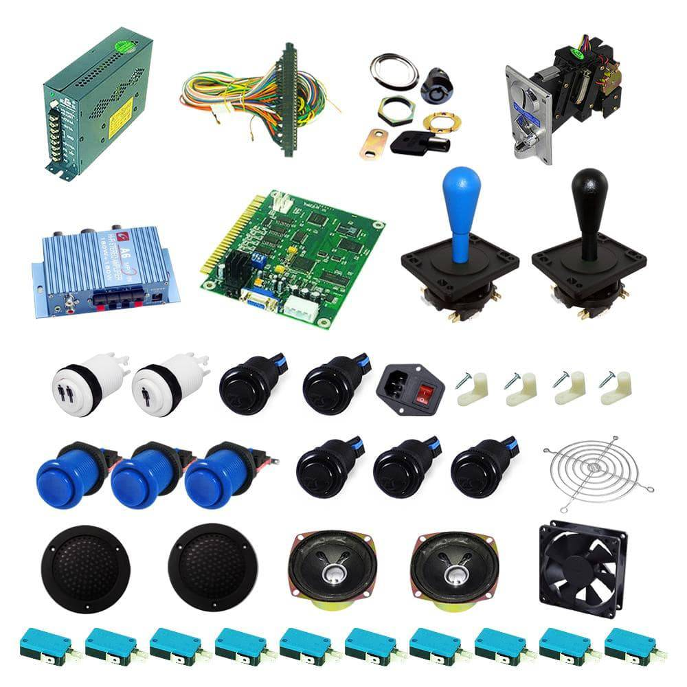 Ultimate 60 in 1 Happ Kit - Blue/Black - DIY Arcade USA