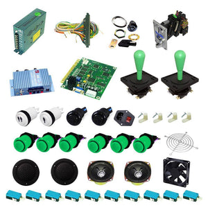 Ultimate 60 in 1 Happ Kit - Green/Green - DIY Arcade USA