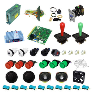 Ultimate 60 in 1 Happ Kit - Red/Green - DIY Arcade USA