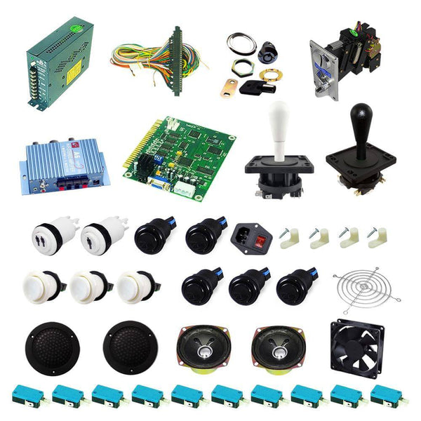 Ultimate 60 in 1 Happ Kit - White/Black - DIY Arcade USA