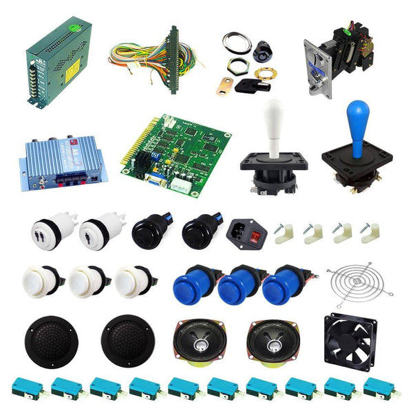 Ultimate 60 in 1 Happ Kit - White/Blue - DIY Arcade USA