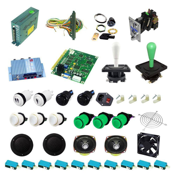 Ultimate 60 in 1 Happ Kit - White/Green - DIY Arcade USA