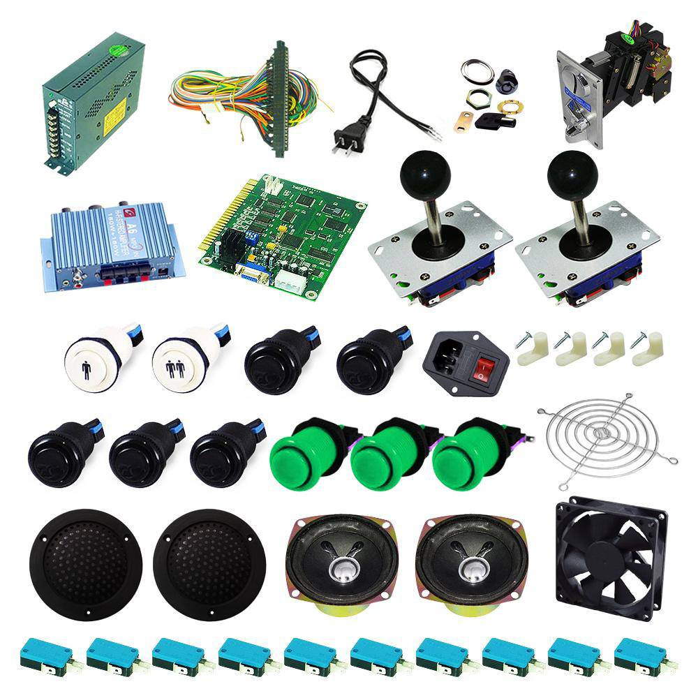 Ultimate 60 in 1 Kit - Black/Green - DIY Arcade USA