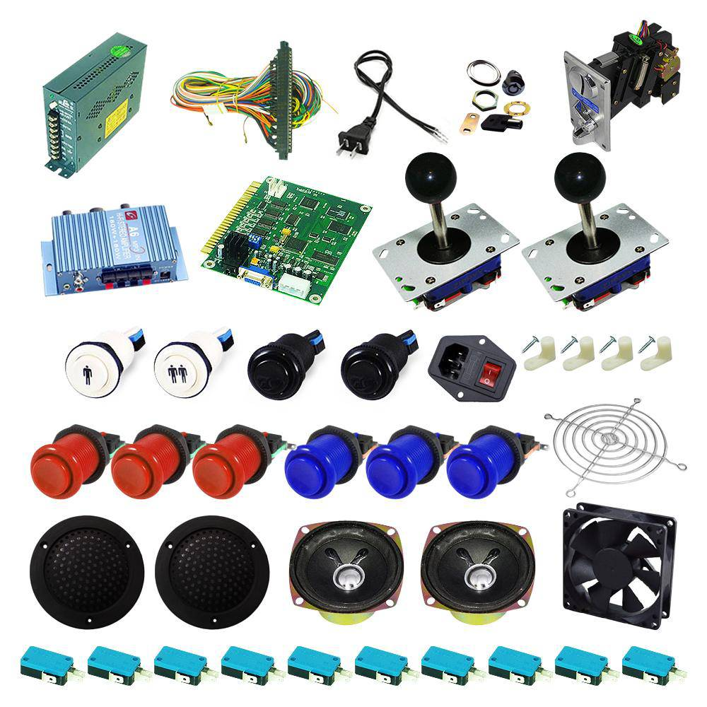 Ultimate 60 in 1 Kit - Red/Blue - DIY Arcade USA