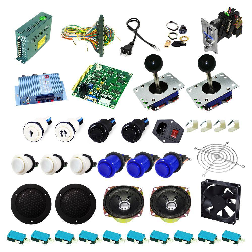 Ultimate 60 in 1 Kit - White/Blue - DIY Arcade USA