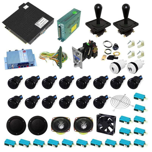 Ultimate 750 in 1 Happ Kit - Black/Black - DIY Arcade USA