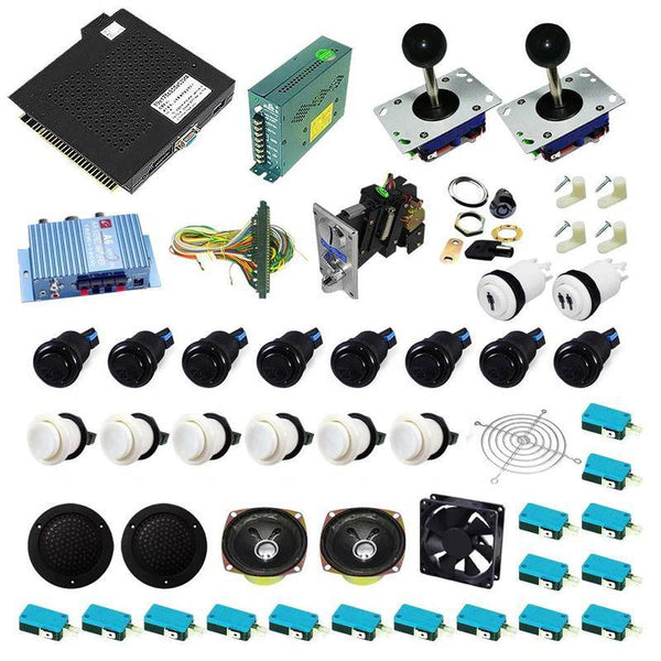 Ultimate 750 in 1 Kit - White/Black - DIY Arcade USA