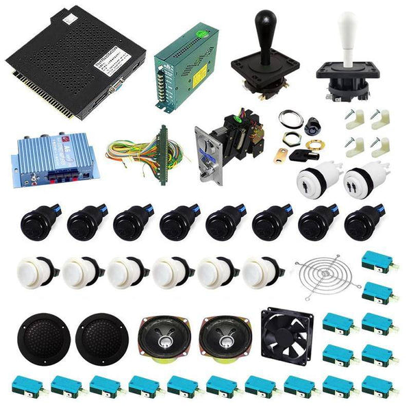 Ultimate 750 in 1 Happ Kit - White/Black - DIY Arcade USA