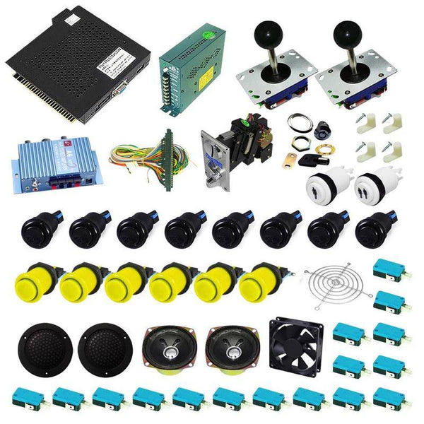 Ultimate 750 in 1 Kit - Black/Yellow - DIY Arcade USA