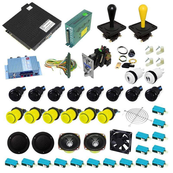 Ultimate 750 in 1 Happ Kit - Black/Yellow - DIY Arcade USA