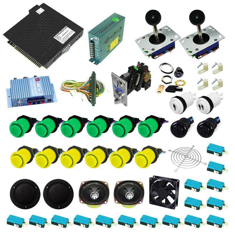 Ultimate 750 in 1 Kit - Green/Yellow - DIY Arcade USA