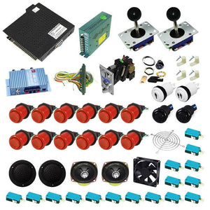 Ultimate 750 in 1 Kit - Red/Red - DIY Arcade USA