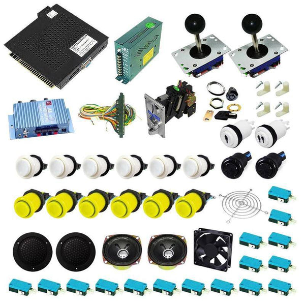 Ultimate 750 in 1 Kit - Yellow/White - DIY Arcade USA