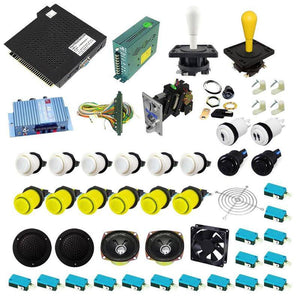 Ultimate 750 in 1 Happ Kit - Yellow/White - DIY Arcade USA