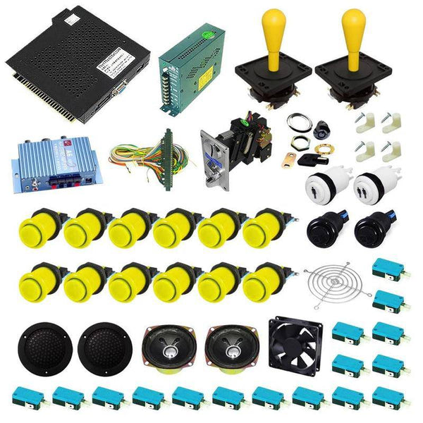 Ultimate 750 in 1 Happ Kit - Yellow/Yellow - DIY Arcade USA