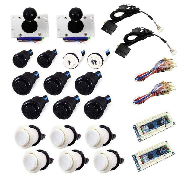 Standard USB Arcade Kit - White/Black - DIY Arcade USA