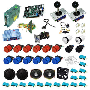 Ultimate 19 in 1 Kit - Red/Blue - DIY Arcade USA