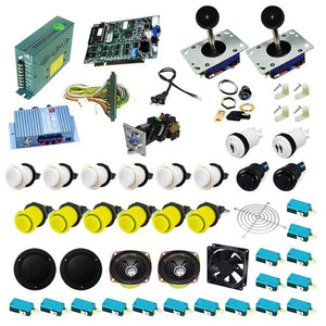 Ultimate 19 in 1 Kit - White/Yellow - DIY Arcade USA