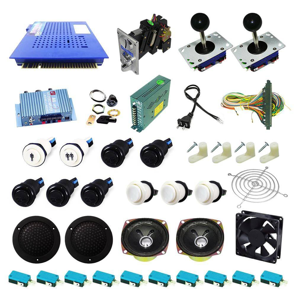 Ultimate 412 in 1 Kit - Black/White - DIY Arcade USA