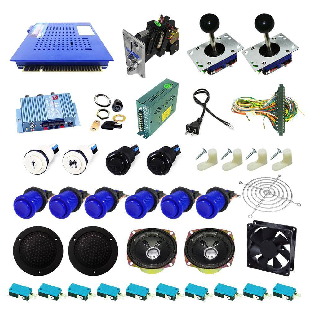 Ultimate 412 in 1 Kit - Blue/Blue - DIY Arcade USA