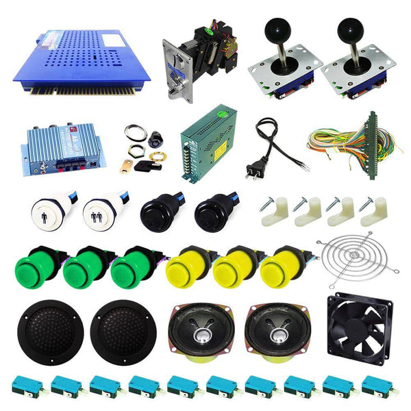 Ultimate 412 in 1 Kit - Green/Yellow - DIY Arcade USA