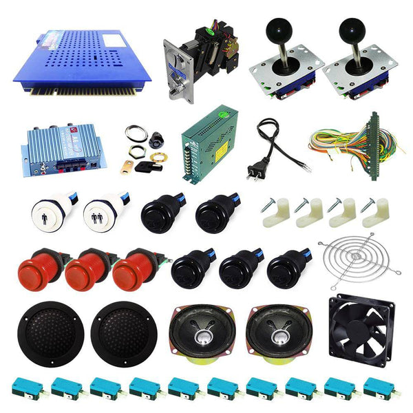 Ultimate 412 in 1 Kit - Red/Black - DIY Arcade USA