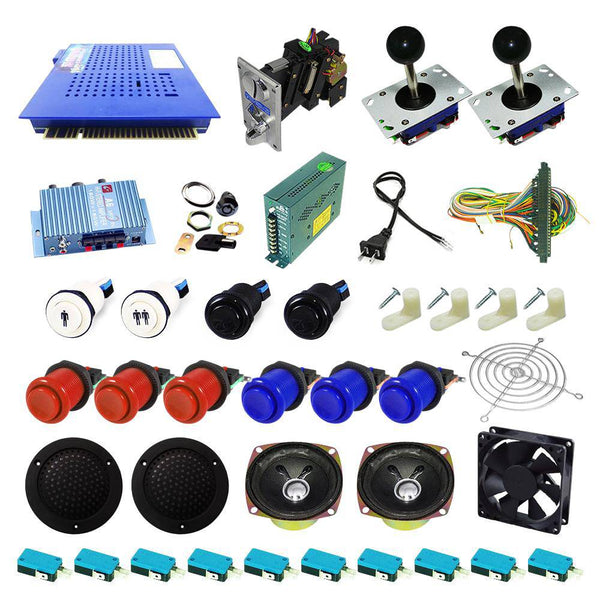 Ultimate 412 in 1 Kit - Red/Blue - DIY Arcade USA