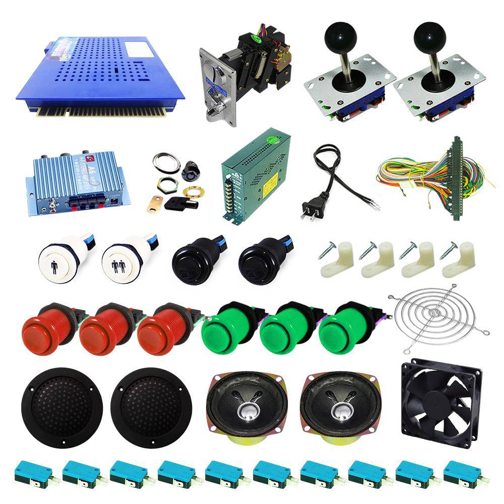Ultimate 412 in 1 Kit - Red/Green - DIY Arcade USA