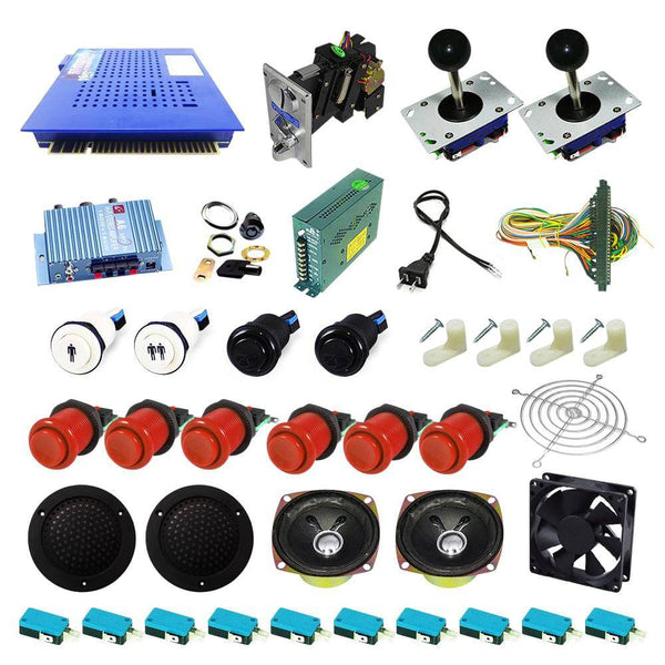 Ultimate 412 in 1 Kit - Red/Red - DIY Arcade USA