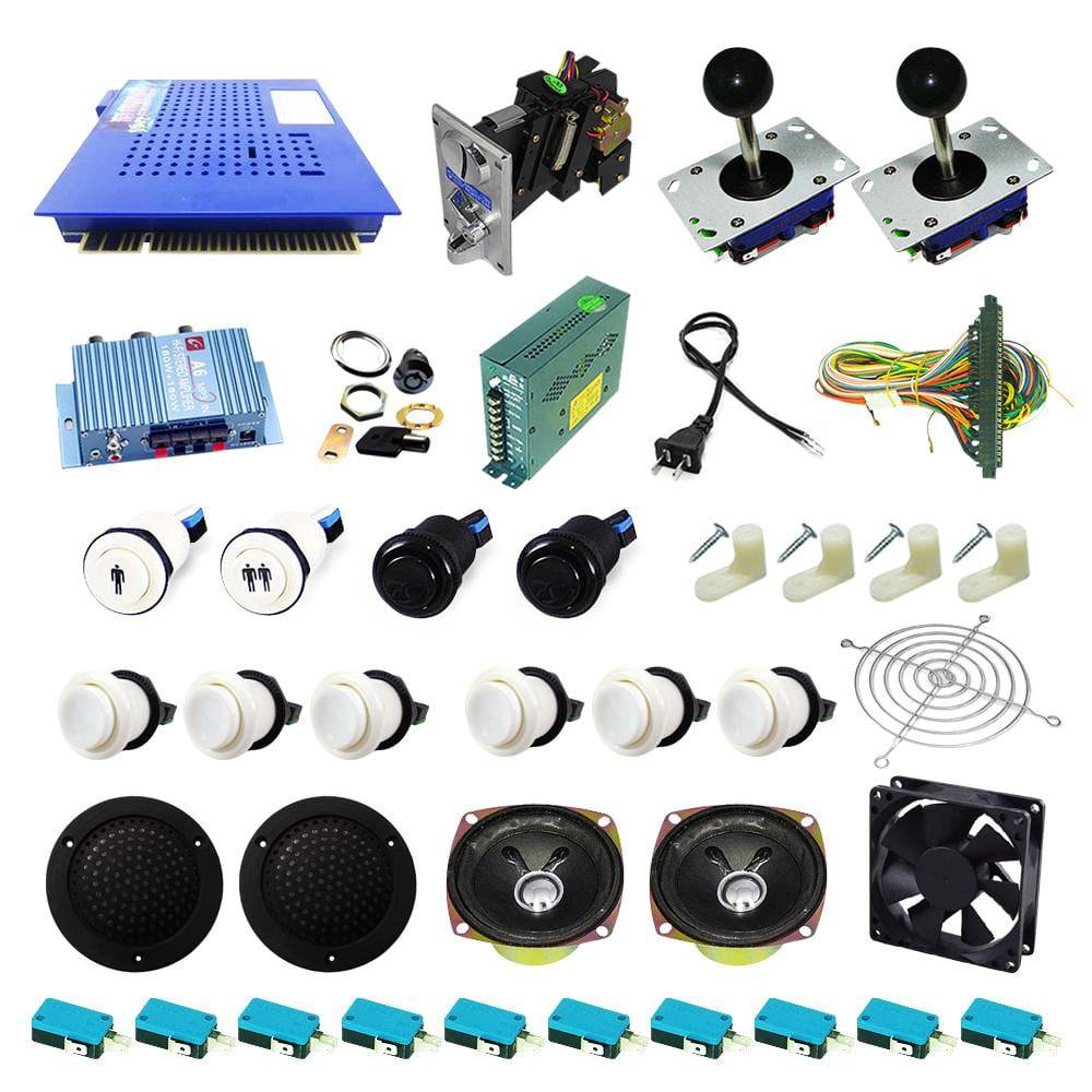 Ultimate 412 in 1 Kit - White/White - DIY Arcade USA