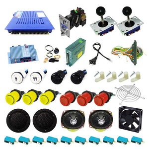 Ultimate 412 in 1 Kit - Yellow/Red - DIY Arcade USA