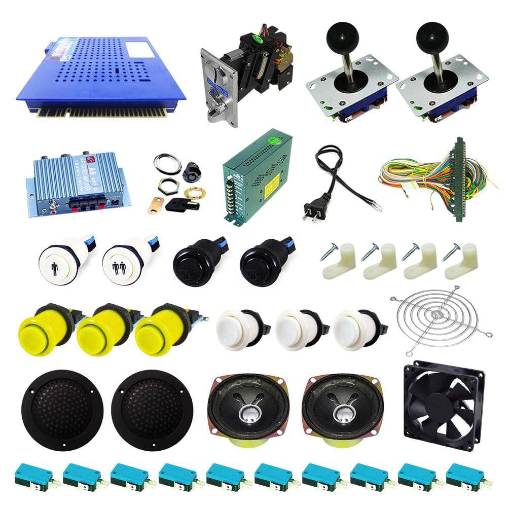 Ultimate 412 in 1 Kit - Yellow/White - DIY Arcade USA