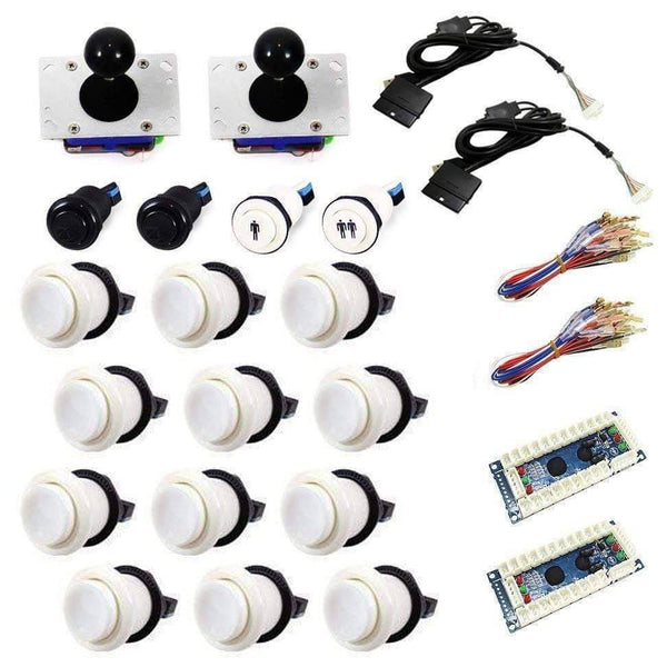 Standard USB Arcade Kit - White/White - DIY Arcade USA