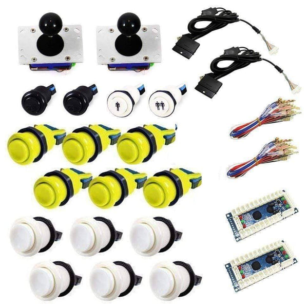 Standard USB Arcade Kit - White/Yellow - DIY Arcade USA